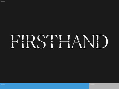 Firsthand Studio brand logotype type branding logo