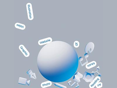 New Fuse 3d animation brutalist 3d physics promo website fuse