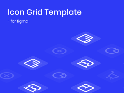 Icon Grid Template for Figma web ui design ui ios materialdesign material layouts layout templatedesign templates grid iconset product lineicons line template icons