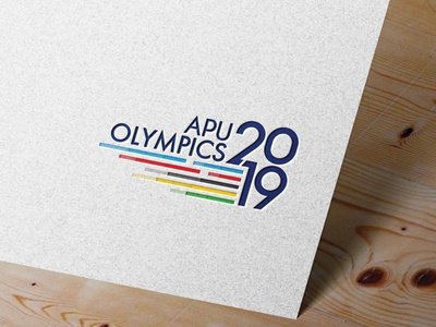 APU COMPANY Olympics 2019 mockup logo