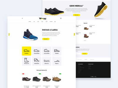 Woopy - Shoes store prestashop yellow design web store shoes