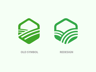 Logo redesign for agronomy company hexagonal lines line redesigned agrobusiness hexagon logo hexagon green symbol farming agronomy farm redesign agro