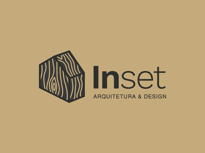 Inset logo 3 timber logo building architect architechture home wood house logo house icon house wooden knot