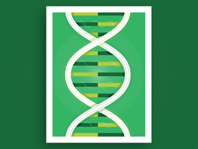 Reproductive Science Illustration vector illustration report annual funding linework flat green reproduction sequence dna science