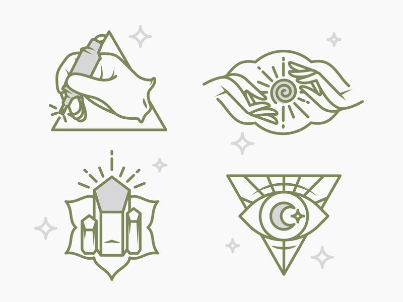 Zen Ink Icons new age mandala stars metaphysical crystals intuitive psychic moon reiki energywork healing piercings tattoo ink zen
