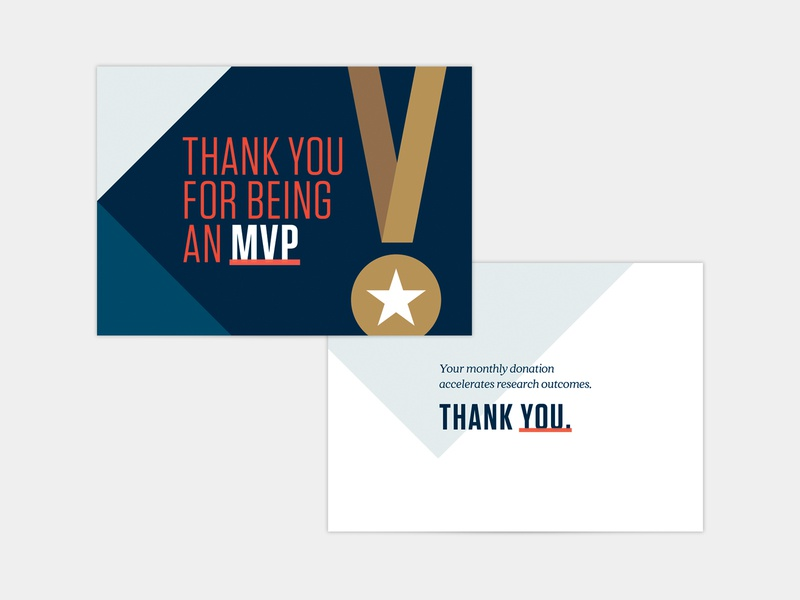 MVP Thank You Card mailer card giving thanks you thank cancer winner champion mvp