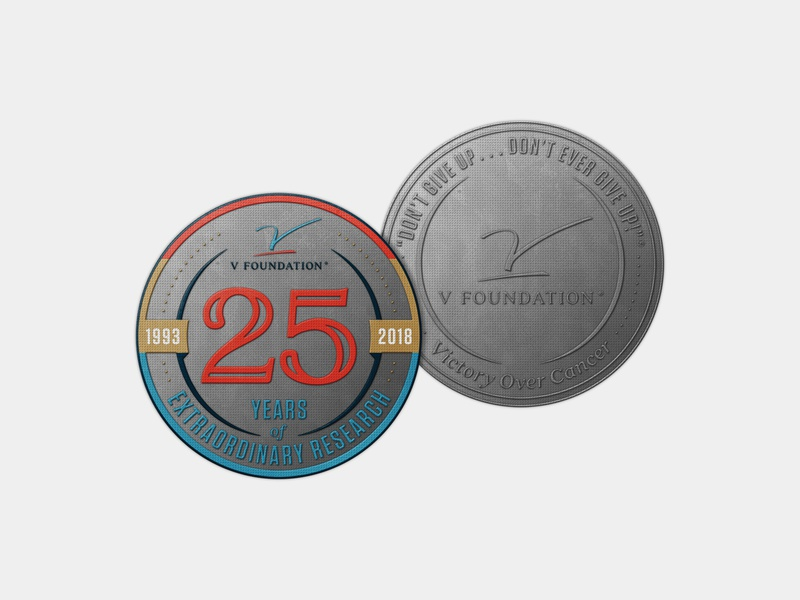 V Foundation Commemorative Coin gift research cancer foundation 25 metal coin commemorative