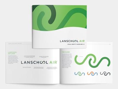 LanSchool Air Visual Identity Guidelines dots software cloud infinity swirl identity visual brand guidelines air school lan