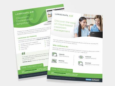 LanSchool Air Fact Sheet icons curve management education classroom class infinity cloud air school lan
