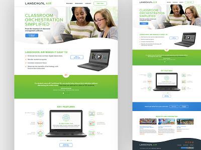 LanSchool Air Website classroom management education curve website web cloud air school lan