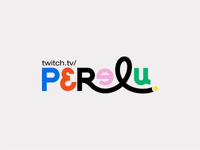 Perelu - Logo/Lettering design lettering clean logo brand vector design branding typography illustrator flat