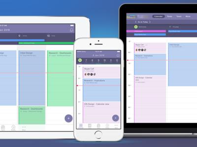 Calendar App Pitch fab invite task time app calendar webapp ipad iphone ios