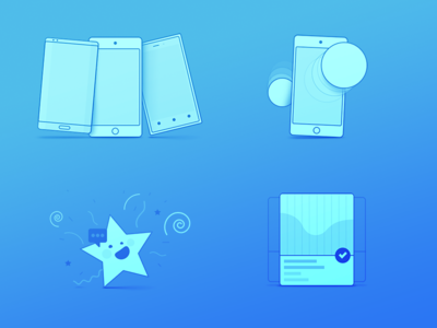 Some new icons touch star fun ui ux motion phone mobile web icons