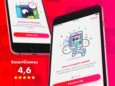 Smartgames moveapp console games illustration onboarding ios app