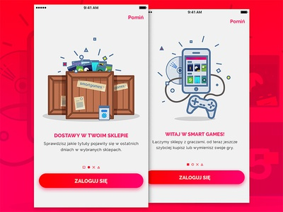 Smartgames onboarding moveapp ios illustration games console app