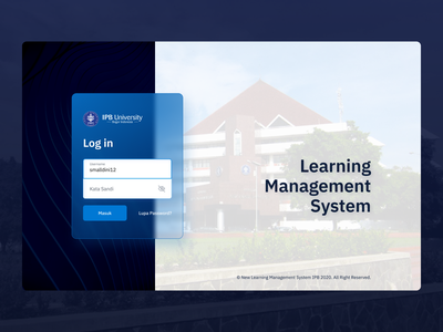 Learning Management System — Login Page dashboard course exploration ux ui login education campus college student website learning desktop