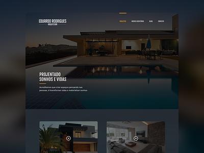 Arquitetura - Eduardo Rodrigues site desktop ux ui landing page arquitecture