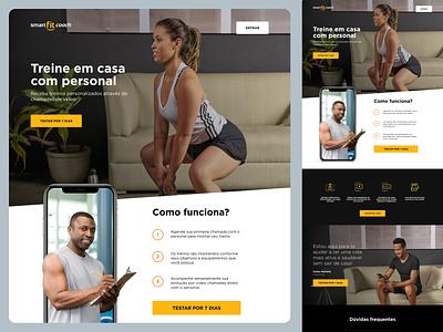Smart fit - Coach ux web fitness ui landing page