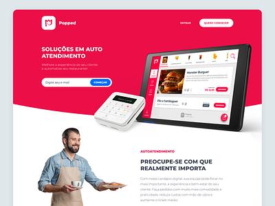 Cardápio Digital - Landing Page ux ui site landing page food