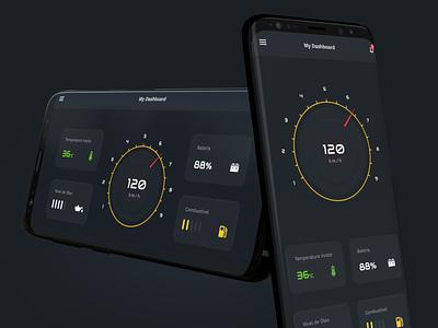Dashboard car mobile ux ui android app dashboad car