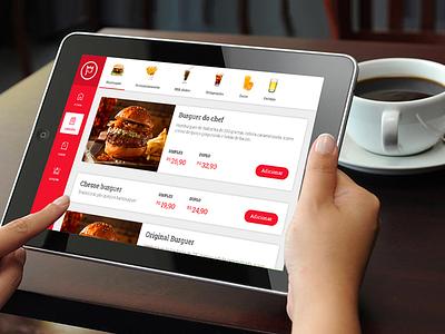 Digital menus tablet food ux ui