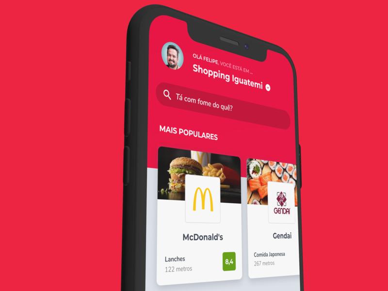 Popped iphone ui food app