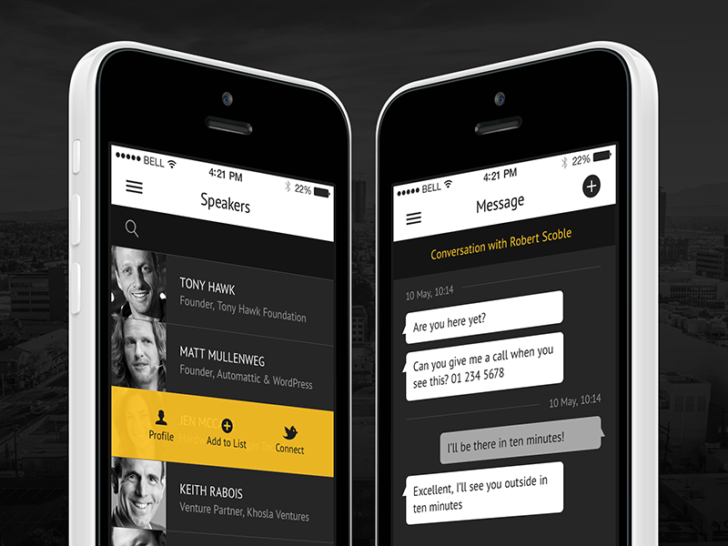 iPhone App app iphone conference networking ios mobile