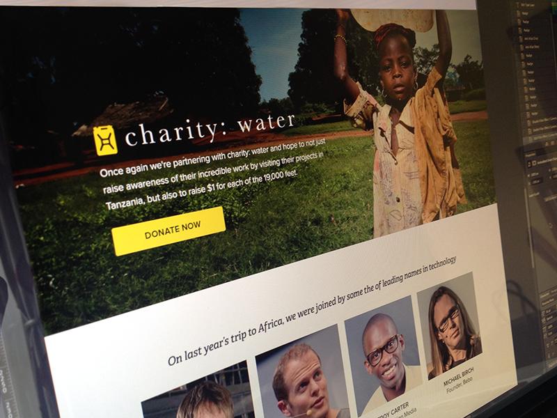 Kilimanjaro charity web design kilimanjaro summit landing page