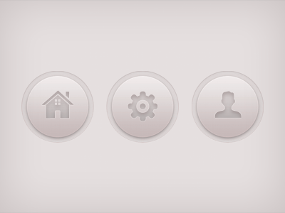 Creamy Buttons buttons navigation ui round