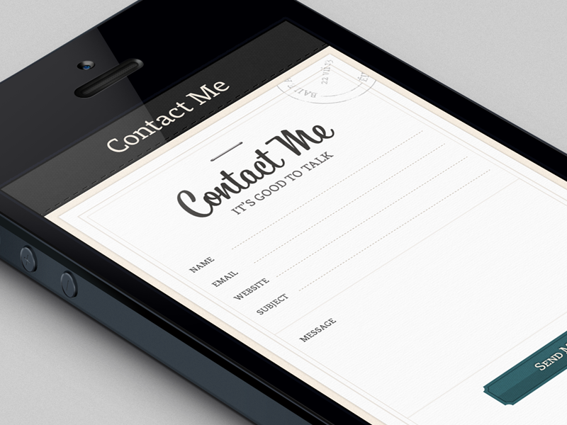 Contact Form form contact responsive