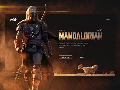 The Mandalorian grid web webdesign site series movies mandalorian graphicdesign ux ui identity design branding