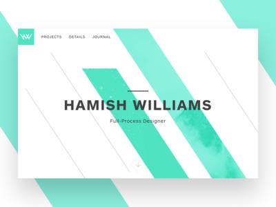 Portfolio Redesign parallax homepage landing page layout web typography designer portfolio