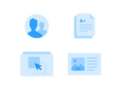 Class Report Icons student grade report lesson icon