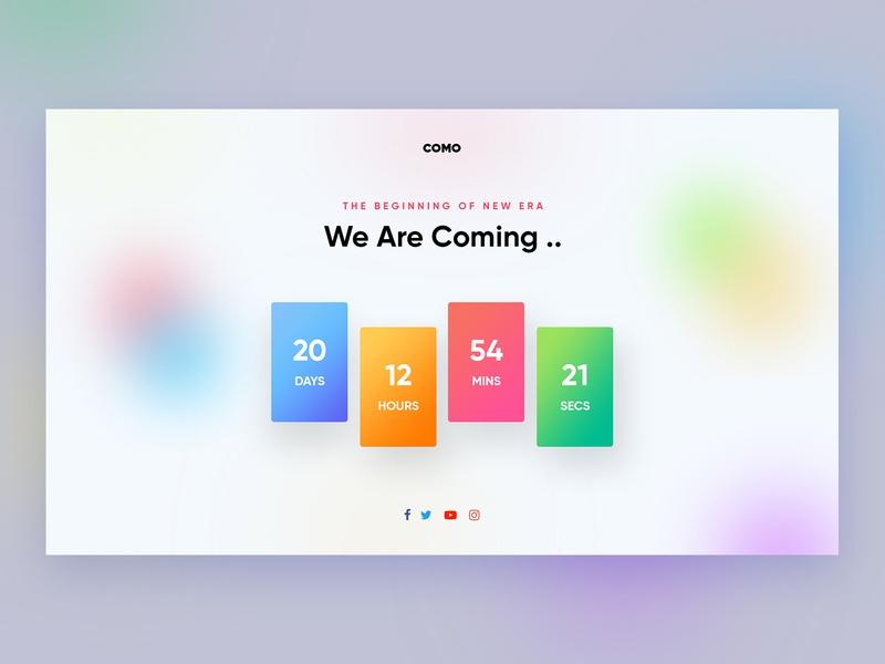 coming soon page blurry blur blurred background gradient color coming soon page coming soon comingsoon coming ui design uiuxdesign uiux design uidesign