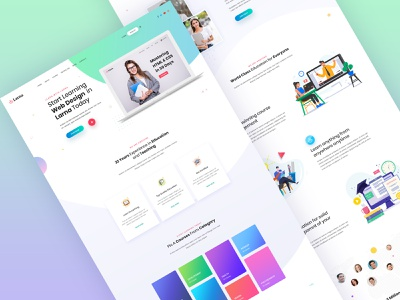 Larna online learing and education template design illustration online learning online education uiux uiux design uiuxdesign education larna uidesign