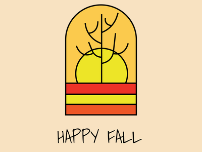 Happy Fall 🍁🍂 vector logo design