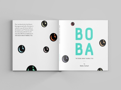 BOBA drink illustrations bubble tea boba editorial book design