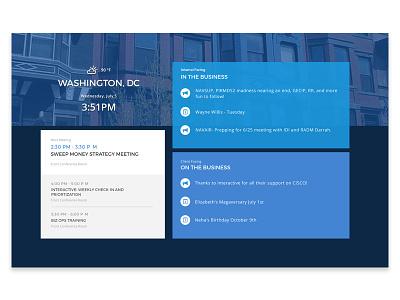 Company Dashboard Concept events sketch business calendar corporate dashboard