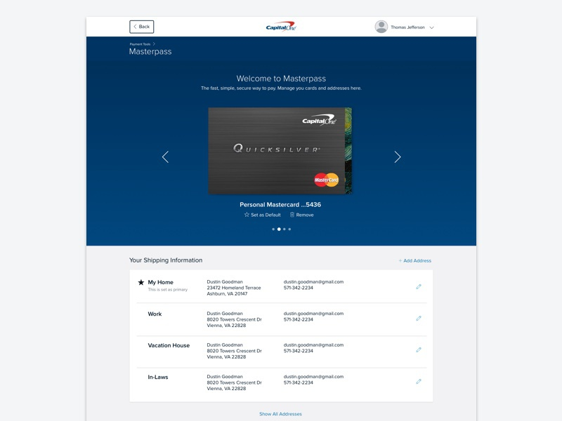 Masterpass by Neha Sohail on Dribbble