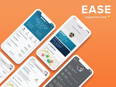 Capital One: EASE Design Kit ease iphone ui kit capital one sketch