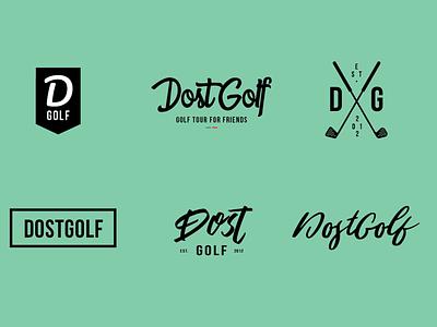 Dost Golf Brand Mark Concepts golf tour dost golf golf tournament logo brand mark golf