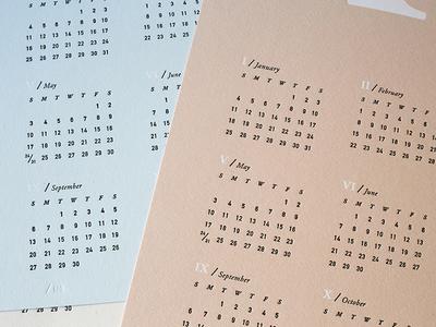MMXV Letterpress Calendars