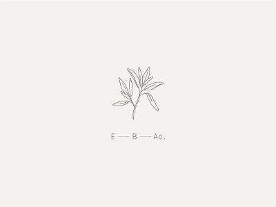 E.B.Ac. Logo Concept leaves sage logomark branding logo