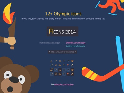 Free Set Colorful Olympic Winter Sport Icons 12+ download icons winter psd free set sochi olympic sport bear ski hockey