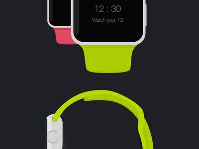 Apple Watch - Free Psd Flat Mockup watch apple ios mockup flat free psd scalable