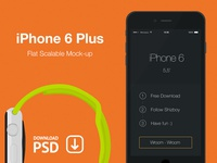 iPhone 6 Plus - Free Psd Flat Mockup