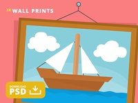 Free PSD Simpson's Painting of a Boat