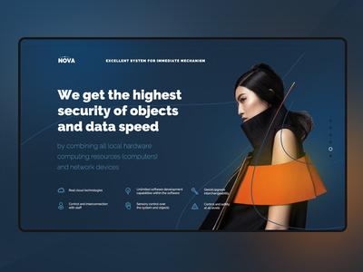 Nova Data fashion data website uxdesign ux uidesign ui landingpage design