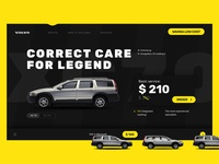 Volvo Care XC70 yellow service car volvo ui design ux uidesign website landing page