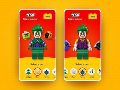 Lego - Figure Creator concept ui app